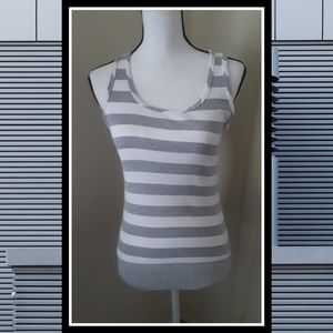 Juniors striped tank top